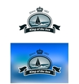 Emblem of the royal yacht club vector image