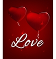 Hearts and letters vector image