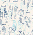Seamless pattern with spring flowers vector image