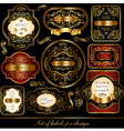 set of black-golden elegance labels vector image