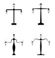 street lamp icon set vector image
