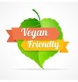 vegan friendly label vector image