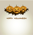 Halloween background with spooky pumpkins vector image
