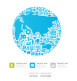 icons Finance make in world shape concept vector image