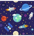 Space Research Seamless Pattern Background vector image