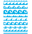 seamless ocean wave set vector image