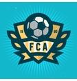 Soccer Emblem Design Football Badge Template vector image