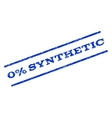 0 Percent Synthetic Watermark Stamp vector image