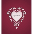 Paper cutout card with heart vector image vector image