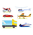 means of transportation collection of pictures vector image vector image