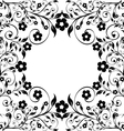 flower ormanent on white vector image