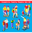 Family Set 02 People Isometric vector image vector image