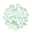 Decorative monochrome vegetables vector image vector image