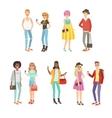 Trendy Street Fashion Clothing Style Set vector image