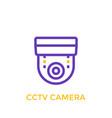 cctv camera icon linear style vector image