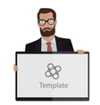 Creative businessman presentation for the site vector image