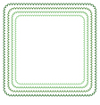 frame in shades of green vector image