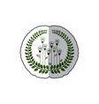sticker ornament of light bulb in shape flower vector image