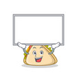 up board sandwich character cartoon style vector image