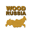 Wood Russia Map of country in form of wooden vector image