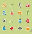 fire brigade icon set vector image