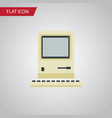 isolated retro notebook flat icon computing vector image