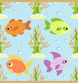 seamless background card with fish vector image