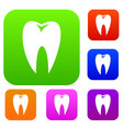 tooth set collection vector image