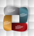 Abstract banner on a geometric background vector image vector image