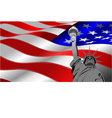 al 0740 flag 01 vector image vector image