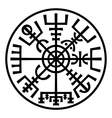 Vegvisir Magic Compass of Vikings Runic Talisman vector image