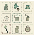 Vintage Colorful Icons Objects and Frames vector image