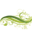 floral wave vector image