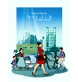 City People Poster vector image