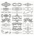 Black Hand Drawn Dividers Text Frames vector image