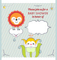 Baby shower invitation card editable template vector image