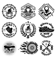 Bicycle set of labels badges logos etc vector image