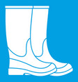 boots icon white vector image