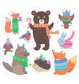 collection of animal images vector image