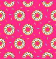 doughnut white on pink sweet seamless pattern vector image