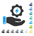 electricity gear service hand icon vector image
