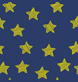 scribble stars on dark blue background christmas vector image