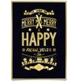Vintage gold lettering wishes design vector image