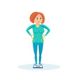 woman after weight loss with a slim figure vector image