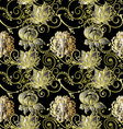 Luxury floral vintage seamless pattern vector image