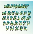 Graffity grunge font alphabet vector image vector image