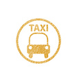 Taxi Sign icon with hand drawn lines texture vector image