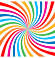 Colorful Bright Rainbow Spiral Background logo vector image