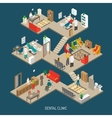 Dental Clinic Concept Isometric Banner vector image