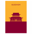 Buddhist temple icon Religious building Landmark vector image